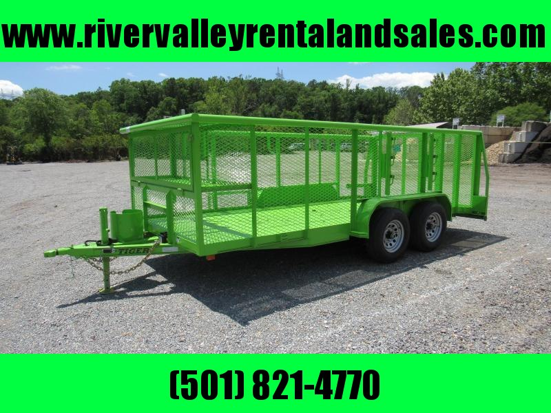 "2019 Tiger 83""X16' Tandem Ladscape Utility Trailer - FOR RENT"
