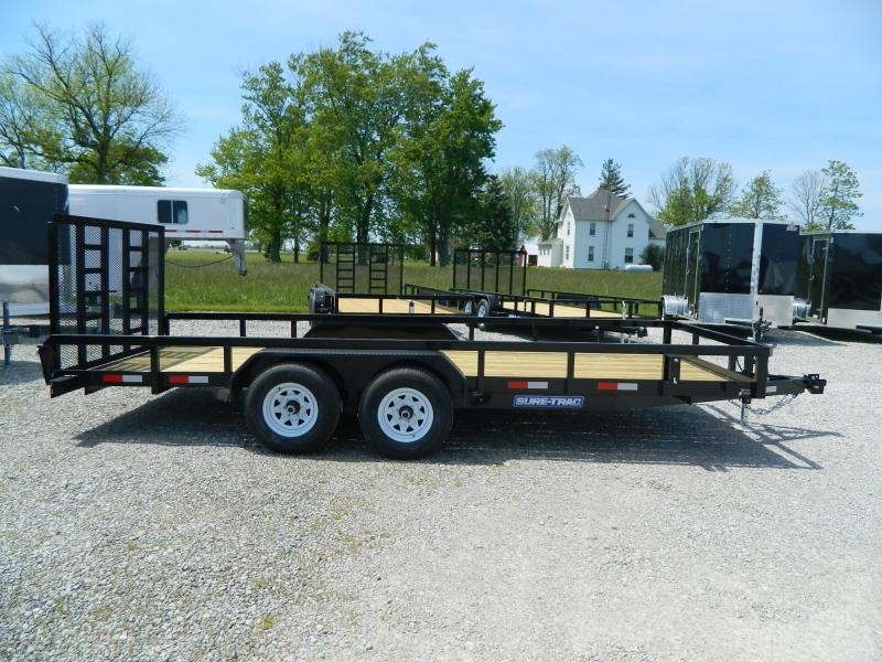 2020 Sure-Trac 7' x 18' 10K Flatbed Trailer