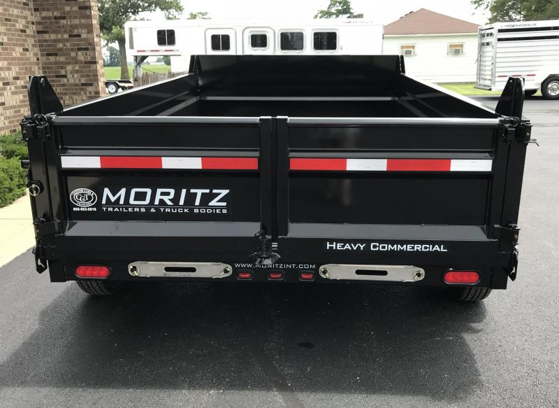 "2019 Moritz International 6'10"" x - 12'  Dump Trailer"