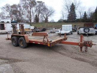 """1997 Ditch Witch 80"""" x 16' Equipment Trailer w/ Ramps"""