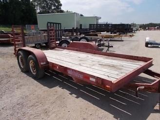 """2000 Cronkhite 80"""" x 15' Equipment Trailer w/ 4' Stand-Up Ramps"""