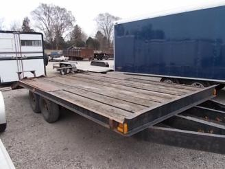 2001 Homemade 8' x 14' Equipment Trailer w/ 4' Dovetail