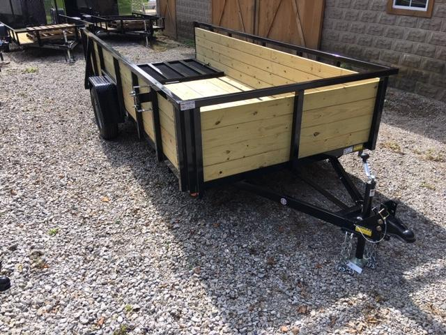 """2020 Quality Steel and Aluminum QSA UTILITY SINGLE AXLE 74"""" X 12' HIGH SIDES Utility Trailer"""