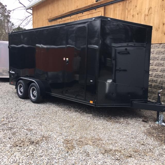 "2021 FORMULA FACTORY SPECIAL ""BLACK-OUT"" 7' X 16' ENCLOSED CARGO TRAILER"