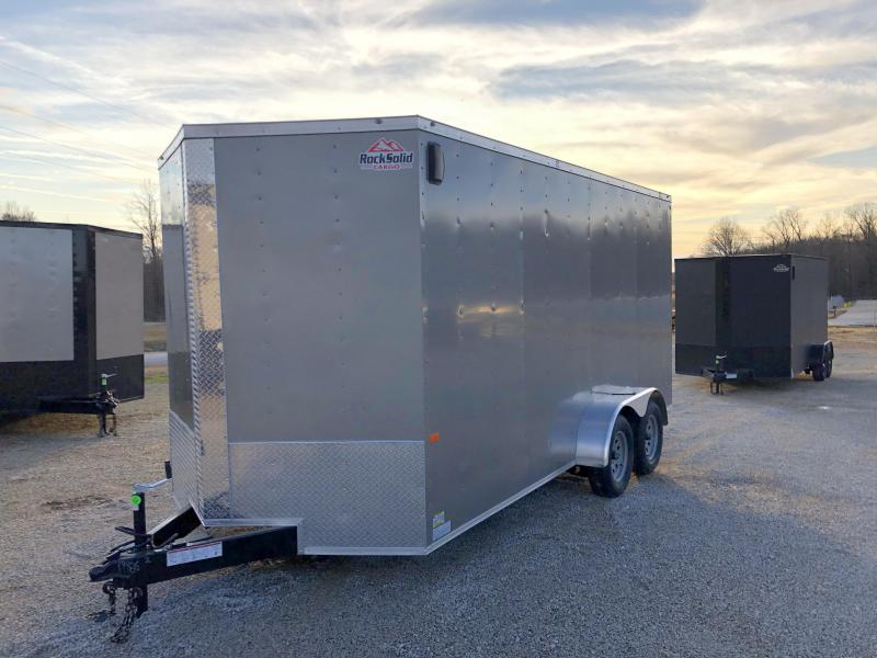 2020 Rock Solid Cargo 7' x 16' x 7' Tandem Axle Enclosed Cargo Trailer