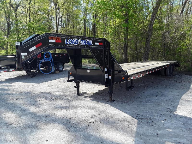 """2019 Load Trail 102""""X 40' 25900 lb GVW Flatbed Trailer W Sliding Ratchet Strap Rails and Max Ramps"""