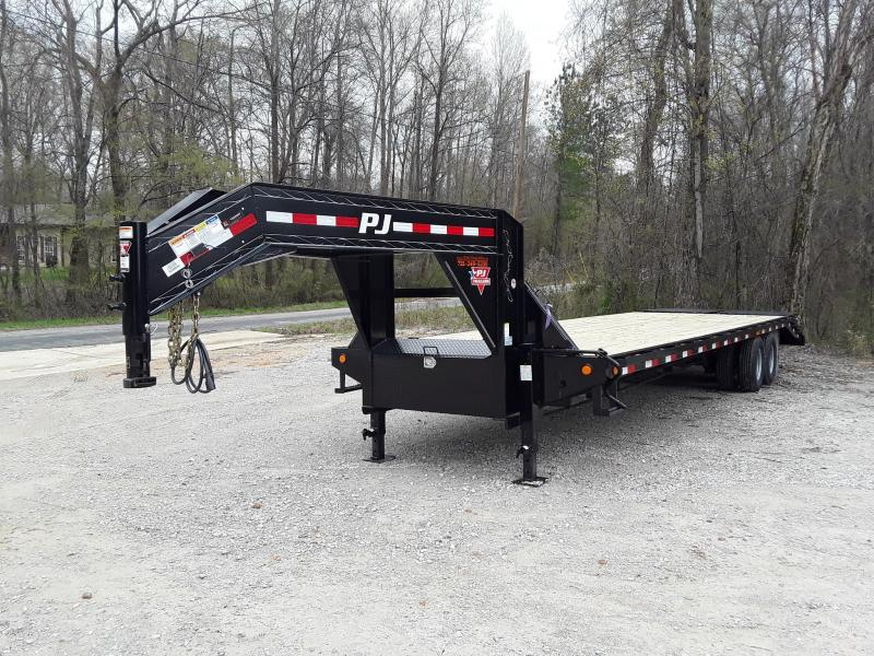 "2019 PJ Trailers 32' X 102"" Flatbed Trailer W 2 10000 lb axles"