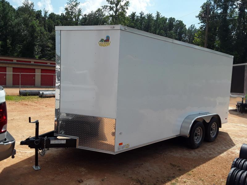 2020 Covered Wagon 7 x 16 Tandem Axle White