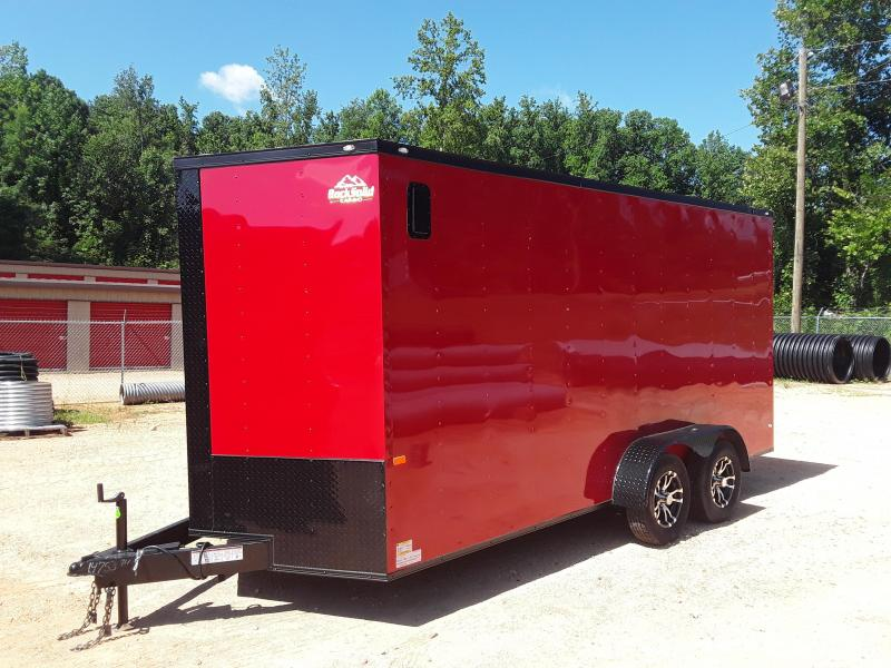 2019 Rock Solid  7' X 16'  Enclosed Trailer W Blackout Package 7' Interior Height