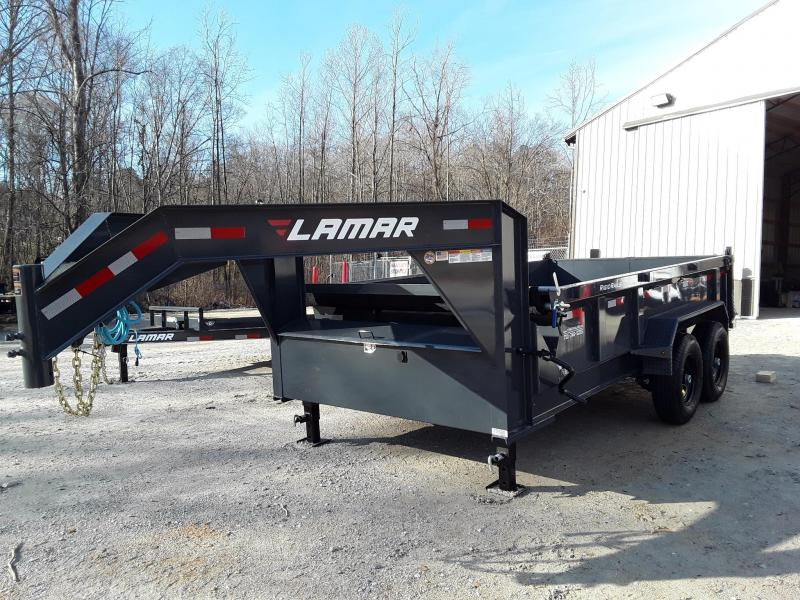 "2019 Lamar Trailers 83"" X 14' Gooseneck Dump Trailer W/ 2 7000 Lb Axles"