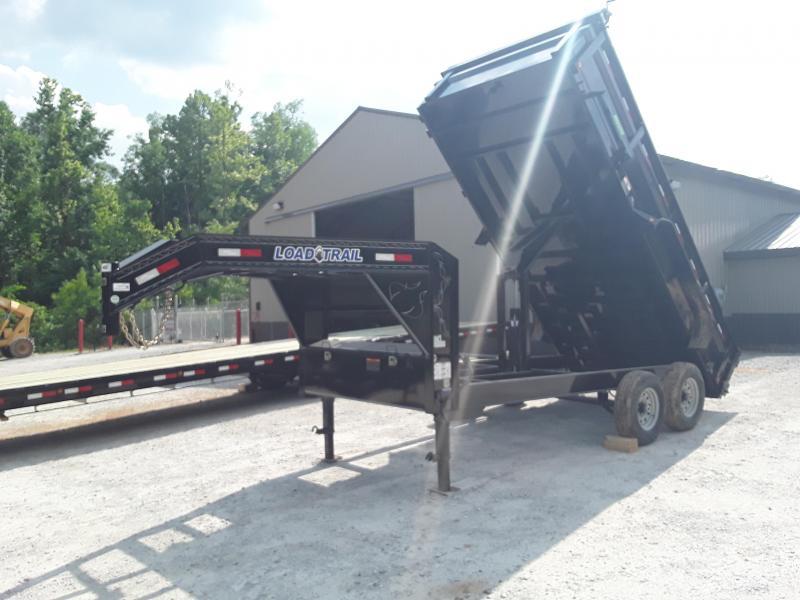 "2019 Load Trail 83"" X 14' Gooseneck Dump Trailer W 2 7000 Lb Axles"