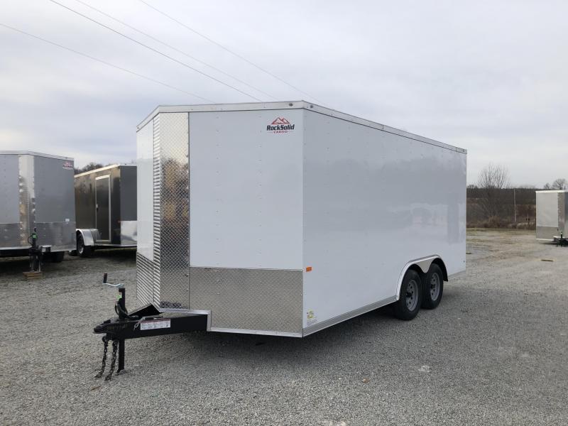 2020 Rock Solid Cargo 8.5' x 16' Tandem Axle Enclosed Cargo Trailer