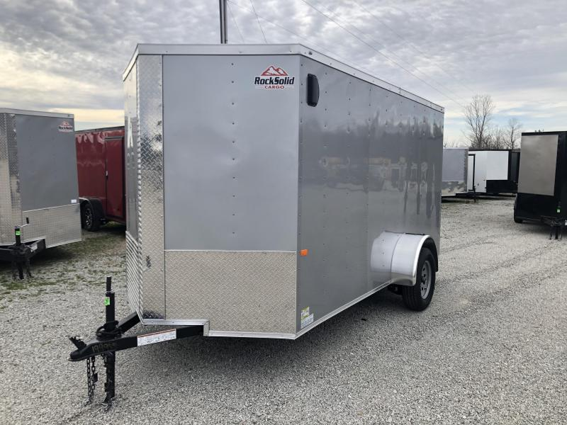 2020 Rock Solid Cargo 6' x 12' Single Enclosed Cargo Trailer