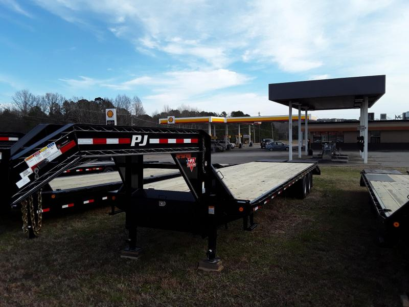 "2019 PJ Trailers 102"" X 34' Flat bed w/ 2 12k Axles"
