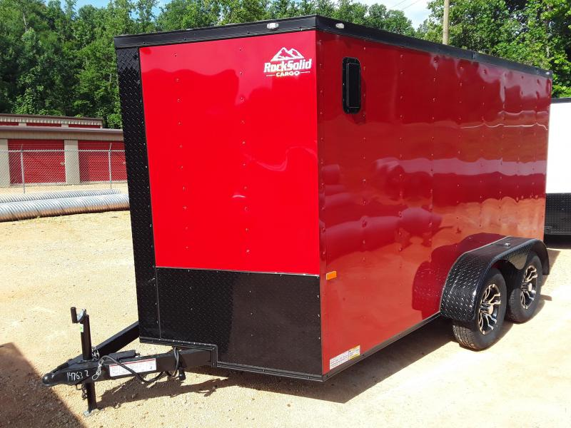 2019 Rock Solid Cargo 7 X 12 Enclosed Cargo Trailer