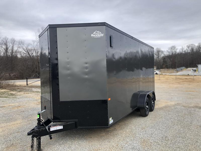 2020 Rock Solid Cargo 7' x 16' x 7' Tandem Enclosed Cargo Trailer