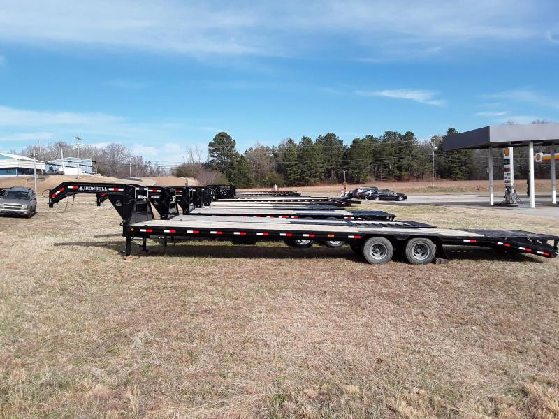 "2019 Iron Bull 102"" X 25' Flatbed W 2 10k Lb Axles and Rampage Ramps"