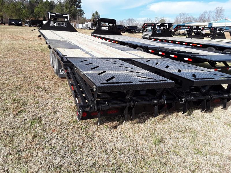 """2019 Iron Bull 102"""" X 25' Flatbed W 2 10k Lb Axles and Rampage Ramps"""