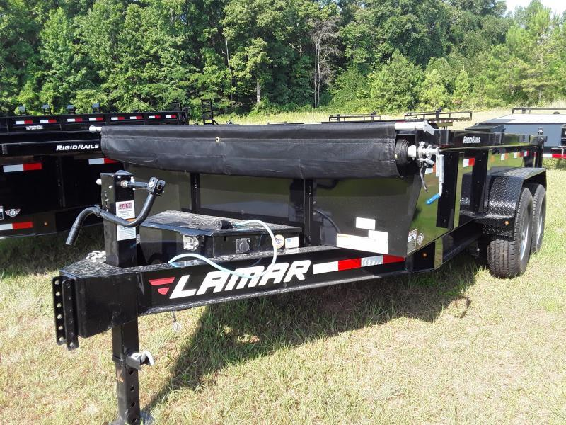 "2020 Lamar Trailers 83"" X 16' LOW-PRO DUMP 14K Dump Trailer"