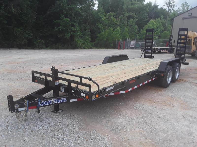 "2019 Load Trail 83"" X 22'  Equipment Trailer W 2 8000 Lb Axles and Custom Solid Steel Wheels"