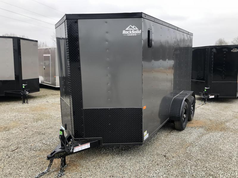 2020 Rock Solid  6' x 12' Tandem Enclosed Trailer
