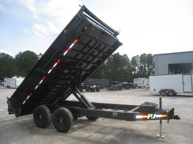 2021 PJ Trailers D8 14 x 96 Deckover Dump Trailer with Fold Down Sides