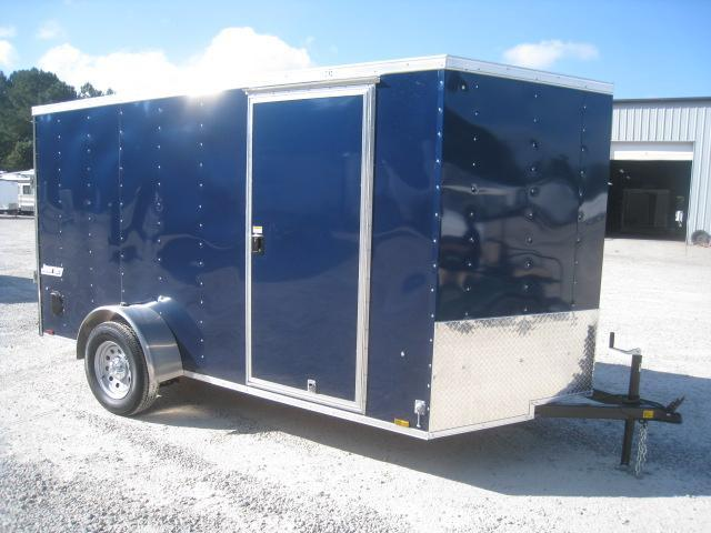 2019 Pace American Journey 6x12 Vnose Enclosed Cargo Trailer in Blue