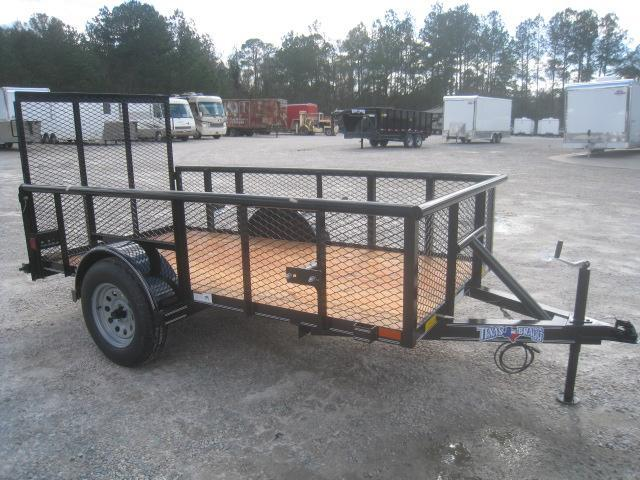 "2020 Texas Bragg Trailers 5x10 Utility Trailer with 24"" Expanded Metal Sides"