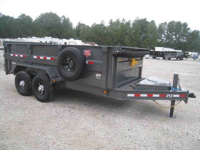 2020 PJ Trailers 14 X 83 DM Low Pro High Side Dump Trailer