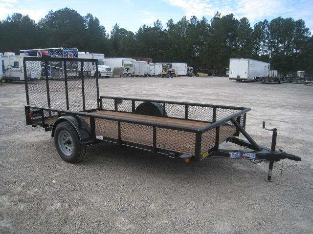 2019 Texas Bragg Trailers 6 x 12 Utility Trailer with Expanded Metal Sides