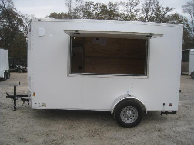 2020 Continental Cargo Sunshine 6 x 12 Vnose Vending / Concession Trailer