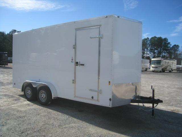"2020 Continental Cargo Sunshine 7x16 Vnose Enclosed Cargo Trailer with 12"" Extra Height"