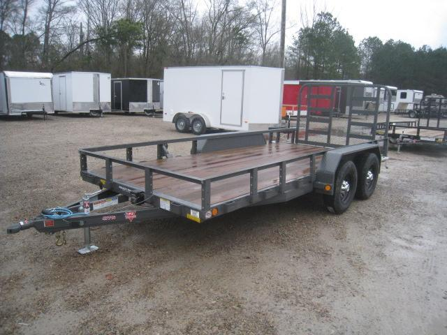2020 PJ Trailers UK 77 x 16 Tandem Axle Utility Trailer