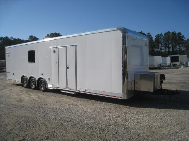 2019 Cargo Mate Eliminator 34 Car / Racing Trailer with Full Bathroom