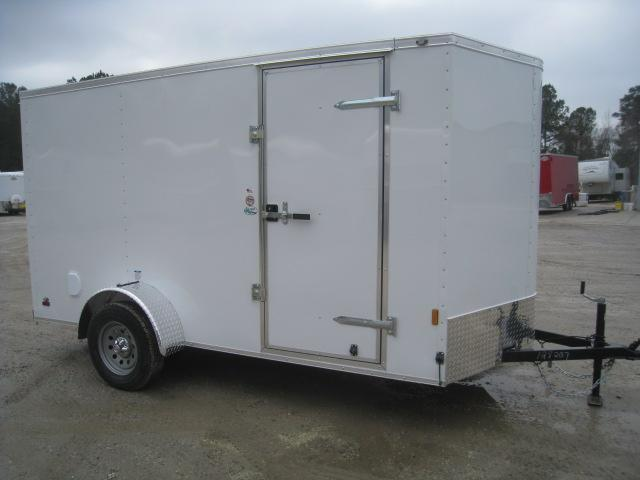 2021 Continental Cargo Sunshine 6 x 12 Vnose Enclosed Cargo Trailer with Ramp Door