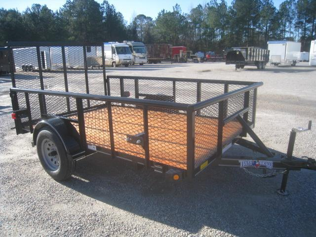 """2020 Texas Bragg Trailers 6x10 Utility Trailer with 24"""" Expanded Metal Sides"""