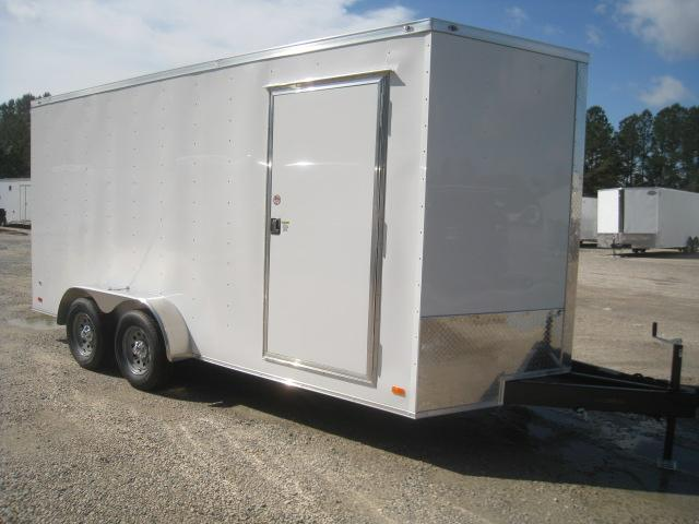 2020 Covered Wagon Trailers Gold Series 7 X 16 Vnose Enclosed Cargo Trailer with 7' Inside Height