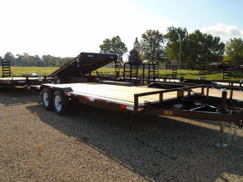 2019 GE 18 14k drive over fender Equipment Trailer