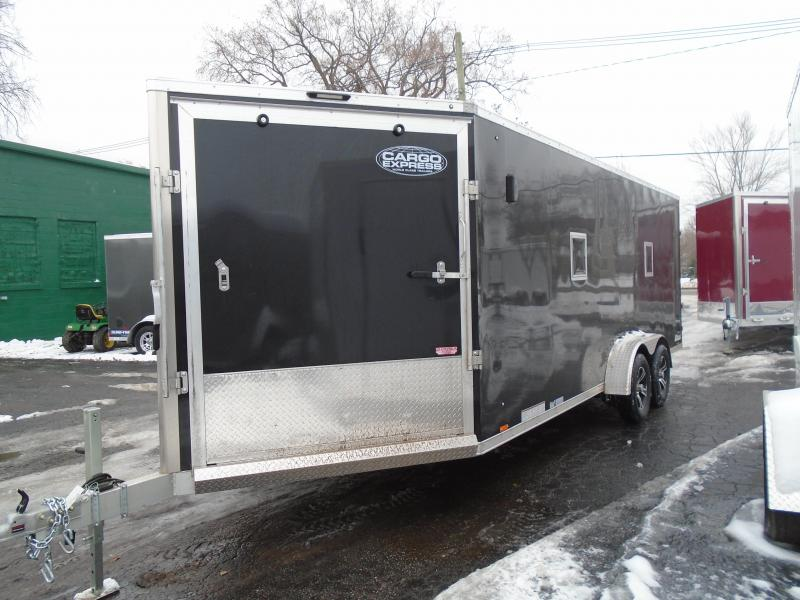 2020 Cargo Express 7x25 7k AX Series Snowmobile Trailer