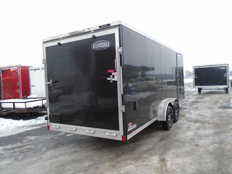 2020 Cargo Express 7x25 7k AX Series Snowmobile Trailer