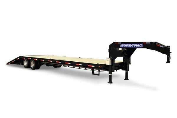 2019 Sure-Trac 8.5x2510 22.5k Hydraulic Beavertail Deckover Equipment Trailer