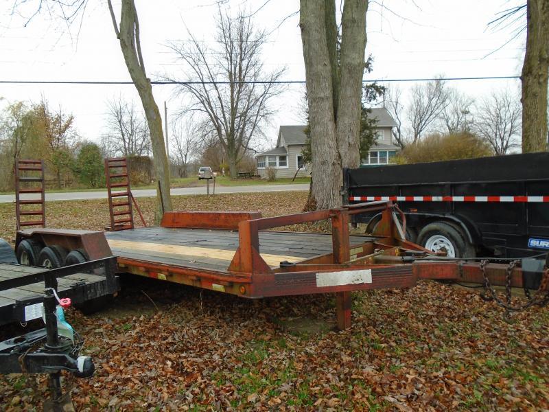Rental 18' Tri Axle Equipment Trailer