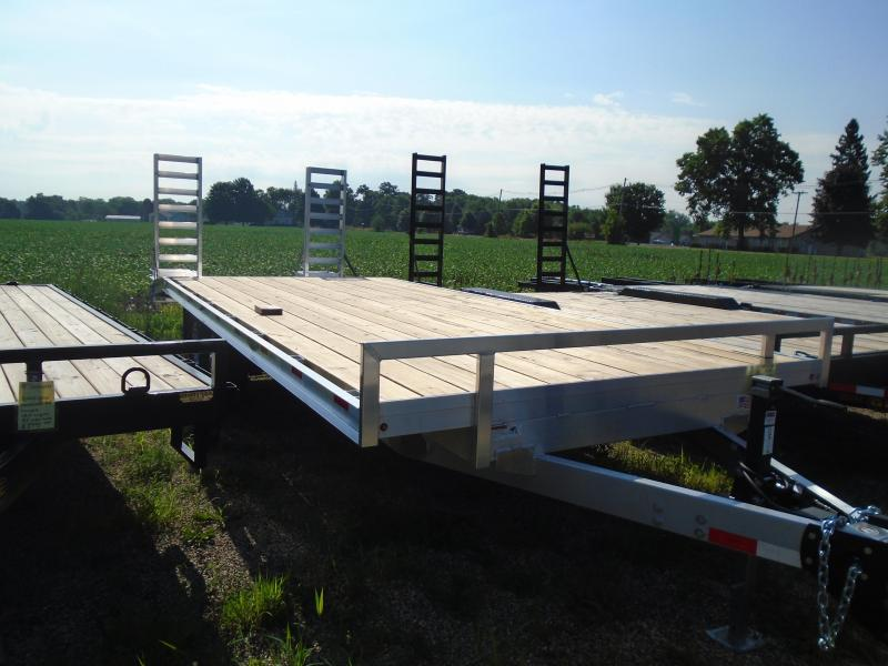"2019 H and H Trailer 102""x18'+4' Aluminum 14k Deckover Equipment Trailer"