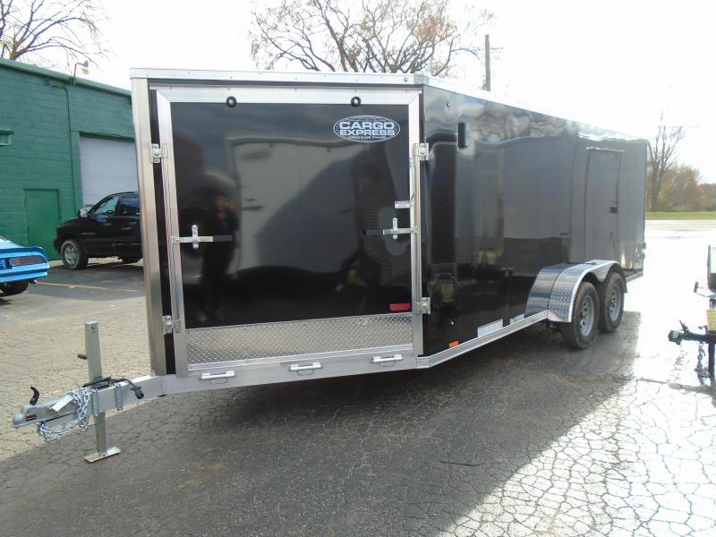 2020 Cargo Express 7x23 7k Snowmobile Trailer