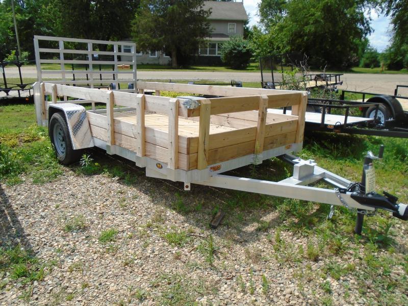 2020 GE 7x12 3 board Aluminum Utility Trailer
