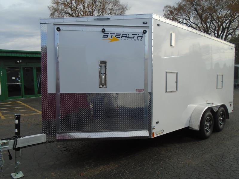 2020 Stealth Trailers 7x19 7k Snowmobile Trailer