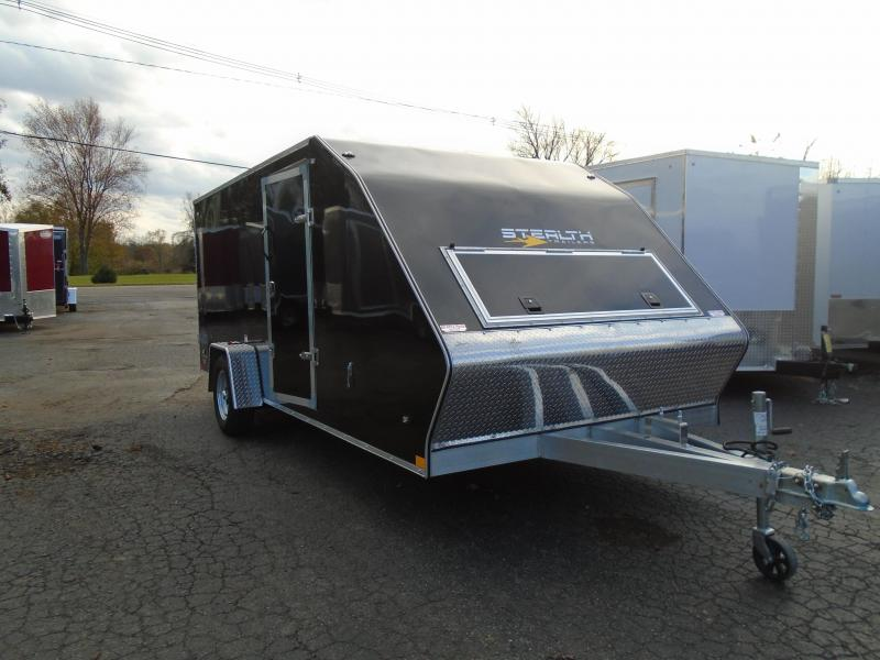 2020 Stealth Trailers 7x16 SA Glacier Snowmobile Trailer