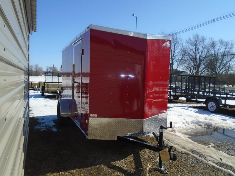 2020 American Hauler 6x12 SA Arrow Enclosed Cargo Trailer