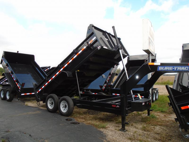 2020 Sure-Trac 82 IN X 16 LP 14K Goose Telescopic Dump