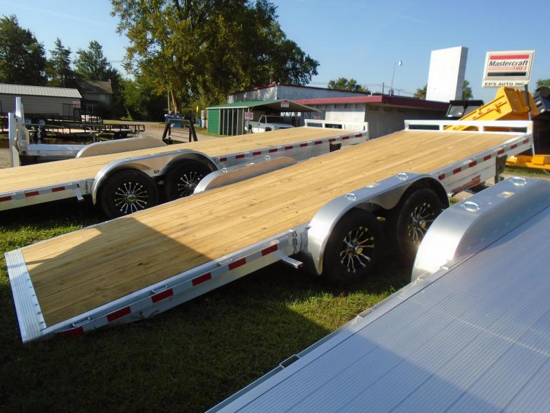 2019 H and H Trailer 20 Aluminum speedloader/Tilt  7k Car / Racing Trailer